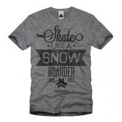 Skate Like a Snowboarder Tee grey
